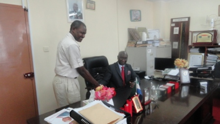 Texas Chief congratulates Minkailu Mansaray, Minister of Mineral Resources