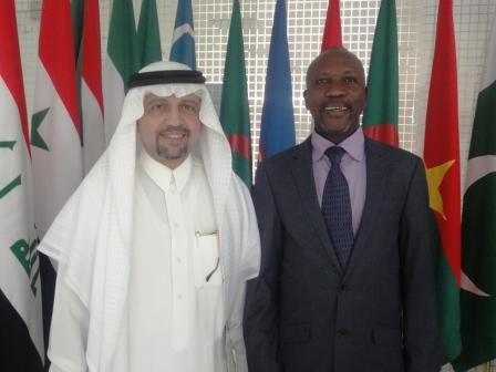 Hon Nicol and his Saudi counterpart