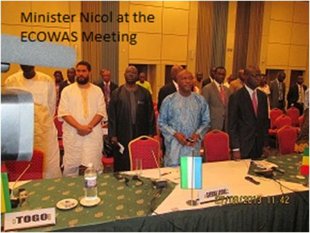 Minister Theo Nicol delivers at the 12th meeting of the ECOWAS ministers of TELECOM/ICT in the Gambia thumbnail