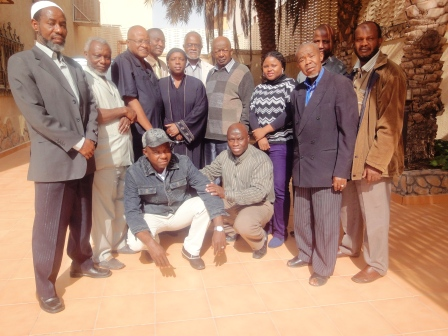 Ambassador  Munu (6th from right) flanked by members of Staff