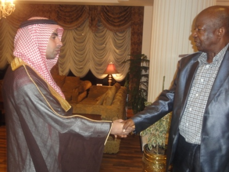 Saudi Foreign Office Official bidding farewell to Amb. Munu