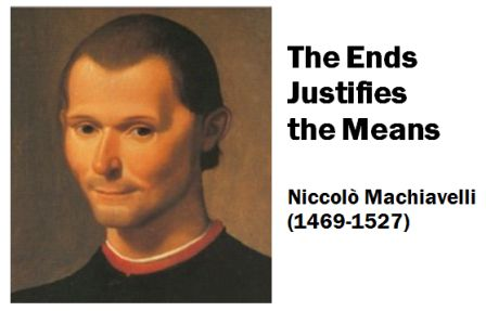 In politics the ends justifies the means … thumbnail
