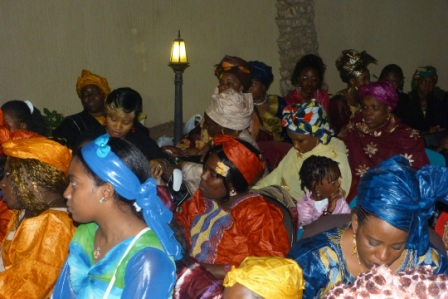 A cross-section of Sierra Leonean women at the occasion
