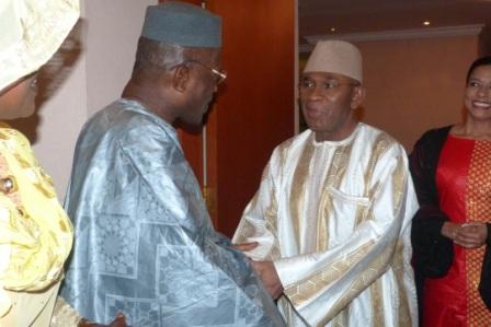 Ambassador Kargbo receiving Gambian Ambassador