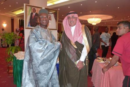 Ambassador Kargbo receiving Saudi Deputy Minister of Foreign M ... rotocol Affairs (Chief of Protocol), Mr. Azzam Al Qain,
