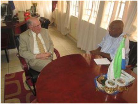 USA Ambassador briefs Ambassador Daramy on Sierra Leone thumbnail