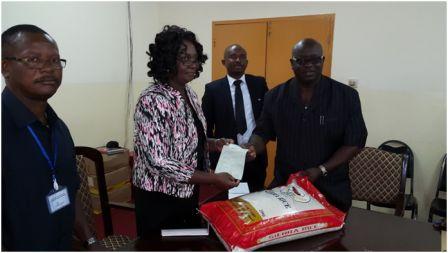 SLPMC Donates 300 Bags of Rice for Ebola Victims thumbnail