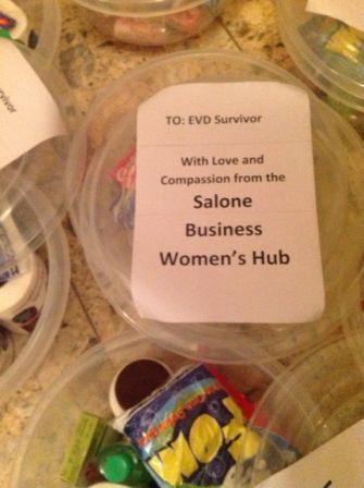 Salone Business Women's Hub: Support to EVD Survivors – toiletry kits thumbnail