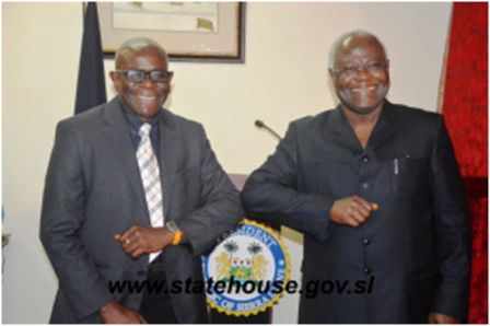 UNMEER Crisis Manager pays Courtesy Call on President Koroma thumbnail
