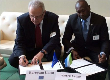 Ambassador Henry Macauley signs declaration with EU on energy support to Sierra Leone thumbnail