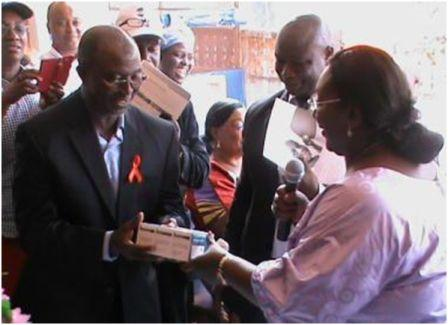 First Lady launches 4,000 Test Kits in the fight to eliminate Mother to Child Transmission of HIV and Syphilis thumbnail