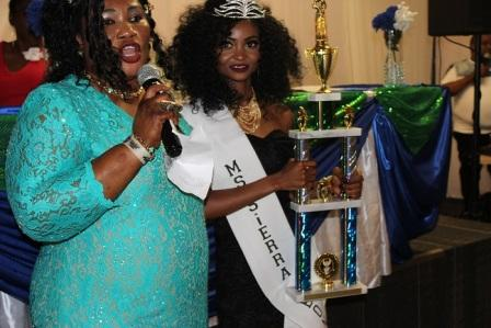 Pageant host, Ms. Zainab Sesay & Ms. Sierra Leone