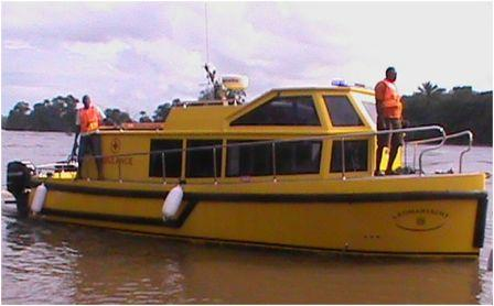 Bonthe District Gets Brand New Ambulance Speed Boat thumbnail